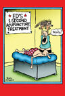 Acupuncture Funny Get Well Card Greeting Card by Nobleworks