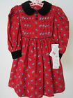 NWT Girls Suzanne Frost Red Dress 4T Boutique Portrait Holiday Pageant MSRP 82
