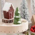 Hallmark Pine Tree and Cabin Salt and Pepper Shakers