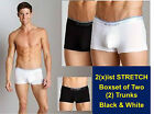 2(x)ist Stretch No-Show Trunks / Boxset of 2 pairs ~Best Value & 100% Authentic
