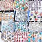50 rings gemstone shells glass crystal wholesale bulk lot fashion jewelry