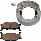 Front Brake Pads & Rear Brake Shoes for Yamaha XVS250 Drag Star Ds250 2000-2005