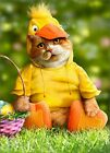 Cat In Duck Costume Funny Easter Card Greeting Card by Avanti Press