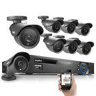SANNCE8CH HDMI Alarm DVR Outdoor 800TVL Security Camera Home Surveillance System