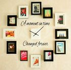 A MOMENT IN TIME CHANGED FOREVER Wall Art Decal Quote Words Lettering Decor