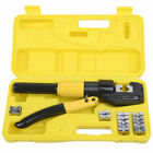 8 Ton Hydraulic Wire Terminal Crimper Battery Cable Lug Crimping Tool w Dies