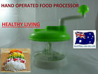 MANUAL FOOD PROCESSOR HAND OPERATED  VEGETABLE CHOPPER KITCHEN PROFESSIONAL  W4