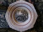 Pink Lusterware/ Lustre Plate with HONEY BEAR AND BEES Transfer.