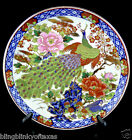 Vintage Japanese Peacock Cherry Blossom  Wall Plate  Echt Porzellan FHH