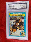 JEAN RATELLE BRUINS HAND SIGNED 1979-80 TOPPS CARD PSA ENCAPSULATED