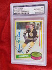 JEAN RATELLE BRUINS HAND SIGNED 1980-81 TOPPS CARD PSA ENCAPSULATED