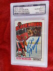 KEITH MAGNUSON HAND SIGNED 1976-77 TOPPS CARD PSA ENCAPSULATED