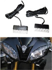 2x LED Motorcycle Turn Signals Blinker Front Rear Peg Fairing Cowl Light Flush :