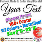 Custom Vinyl Lettering Decal Car Truck Decals Sign Banner Window Letter Stickers