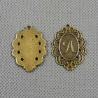 2x Vintage schmuckset Jewelry Findings Charms 4 A1137 lace Sign Letter A