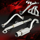FOR 95 99 2G ECLIPSE TALON NON TURBO PAINT FINISHED HEADER+CATBACK EXHAUST PIPE