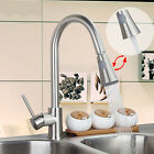 Nickel Brushed Kitchen Pull Out Swivel Vanity Sink Mixer Tap faucet ush6023GFVR