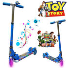 TOY STORY FOLDABLE DESIGN SCOOTER TODDLER KID PUSH KICK 3 WHEEL LED RIDE ON TOY