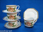 Vintage Fitz and Floyd Chrysantheme Cups and Saucers - Set of Four