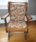 vintage child canadian rocking chair  antique canadian style rocker chair