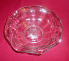 VINTAGE  CLEAR  DEPRESSION  GLASS  BOWL  WITH  SCALLOPED  EDGES