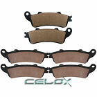 Front Rear Brake Pads For Honda GL1800A Gold Wing 1800 Airbag / Navi 2001-2016