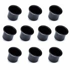 10 Jumbo Vivid Black Aluminum Drop In Drink Cup Holders for Custom Poker Table