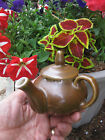 ANTIQUE COORS THERMO PORCELAIN Pottery BROWN PITCHER TEA COFFEE POT 4