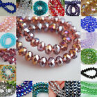 2017 New Faceted Rondelle Jewelry Bicone Crafts Glass Crystal Beads Multicolor