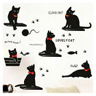 Black Cats Family DIY Wall Sticker Decal Removable Home Decor Vinyl Art Mural