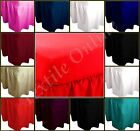 Plain Dyed Bed Sheet Fitted Valance Sheet Poly Cotton Single Double