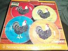 Sakura Warren Kimble Roosters Salad or Dessert Plates Set of 4 BNIB
