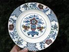 ANTIQUE JOHN MADDOCK & SONS VALENCIA HAND PAINTED FLOW BLUE DECORATED PLATE