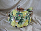 Fitz Floyd Partridge/Pear 1991 Soup Tureen 3 1/2 Qt. With Ladle..RETIRED/RARE!!