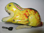 CHEIN TIN LITHO WINDUP RABBIT 1930s BUNNY WITH KEY EARLY CIRCLE LOGO STILL WORKS