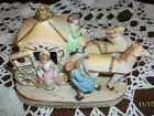 VINTAGE ESTATE JAPAN  PORCELAIN BISQUE COLONIAL HORSES & CARRIAGE, BEAUTIFUL