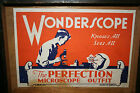 Vintage Wonderscope Perfection Microscope in wooden box 1940's