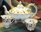 ROYAL STAFFORD GOLDEN BRAMBLE TEAPOT LARGE TEA POT CREAMER SUGAR BOWL