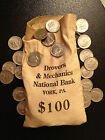 200 Coin Lot 2x Silver 90 40 1971 PD Kennedy Half dollar Vintage Bank Bag York