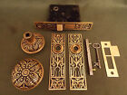 Antique Branford Lock Works Cast Bronze Passage Lock Set c.1880