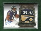 Ray Rice 2008 Exquisite Autograph AUTO *LOGO* 4 clr. PATCH Rookie Card #157 199