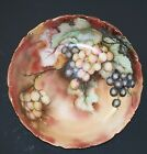 Antique Porcelain T&V Limoges Hand Painted Grapes Bowl 10 1/4