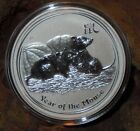 RARE ! ~ 2008 ~ .999 SILVER ~1~OZ ~ YEAR of the MOUSE ~ PERTH MINT ~RARE~ $99.99