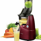 Kuvings Wide Mouth Silent Cold Press Juicer with 20 Year Warranty - BURGUNDY