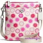 NWT Coach Poppy Floral Print Swingpack Crossbody Bag F51105 Pink Flowers Heart