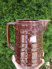 ANTIQUE RED BROWN GLAZED MARCREST STONEWARE USA OVENPROOF POTTERY PITCHER