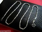 Pure Platinum 950 Necklace/Long Beads Necklace / Stamp: Pt950 / 8.8g