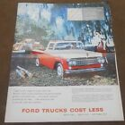 Very Rare Vintage 1958 FORD TRUCKS COST LESS Brochure Pamphlet Catalog
