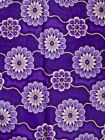 Cotton Traditional African Patterns purple Diamond Super Nice Fabric wd110310-1