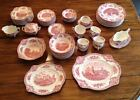 JOHNSON BROS OLD BRITAIN CASTLES PINK 81 PC.  OLD MARK WITH MANY SERVING PIECES